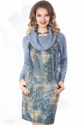 Уютное трикотажное платье Визел-2335-1