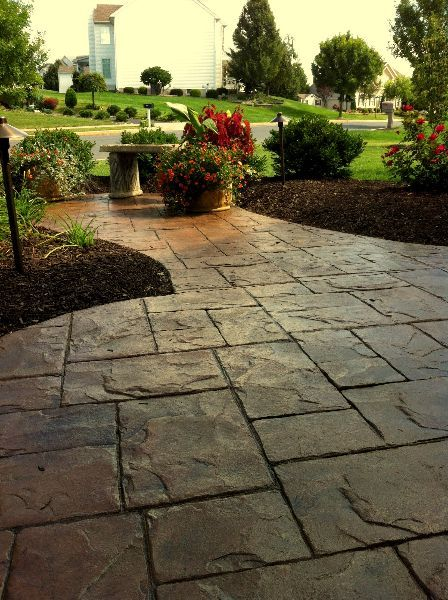 Stamped Concrete Patio Designs Stamped Concrete