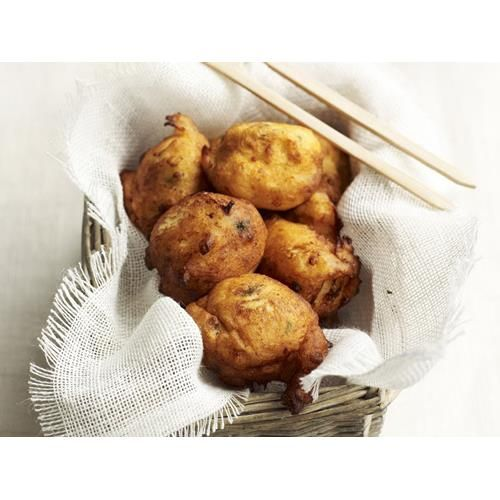 Goat's cheese and potato fritters recipe.