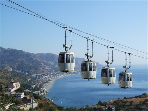 Cable car of Taormina - You can reach the seaside from the center of Taormina