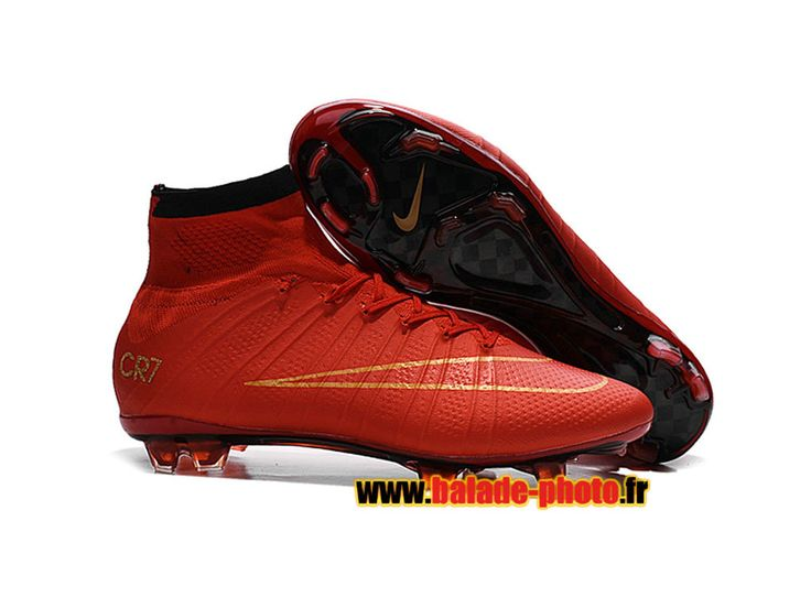 Chaussures de football Nike Mercurial Superfly CR7 2015/2016 FG Red Gold 5858