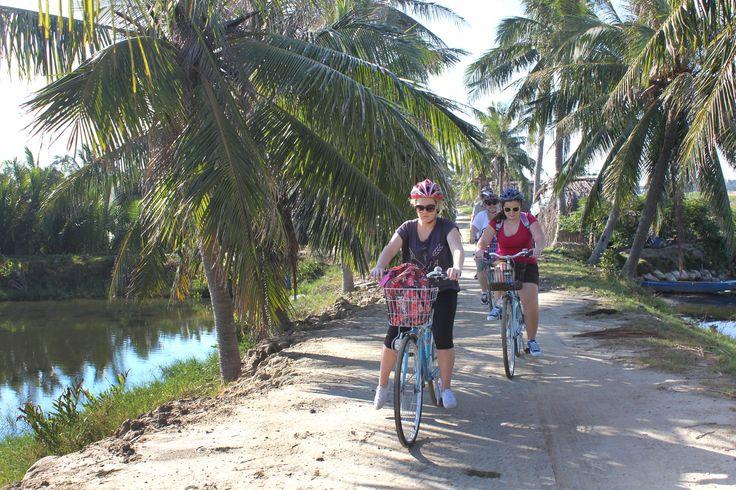 Biking through the countryside. #VietnamSchoolTours #EcoTour #Cycling