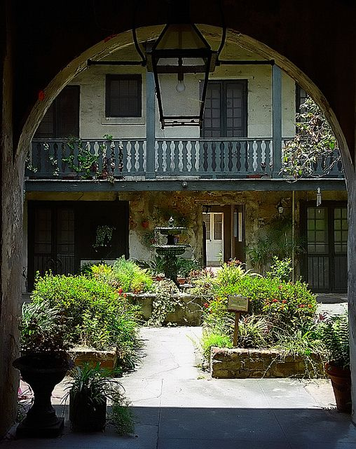 New orleans french quarter bosque house courtyard by for New orleans style house plans with courtyard