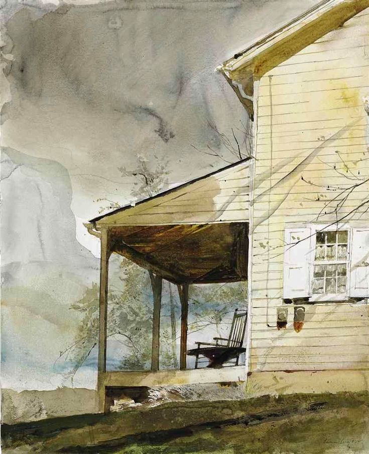 """dappledwithshadow: """"  Andrew Wyeth Messersmith's Dimensions: 24 X 19.5 in (60.96 X 49.53 cm) Medium: watercolor and pencil on paper Creation Date: 1994 """""""