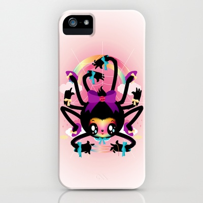 Crafty spider iPhone Case by Meni Tzima - $35.00