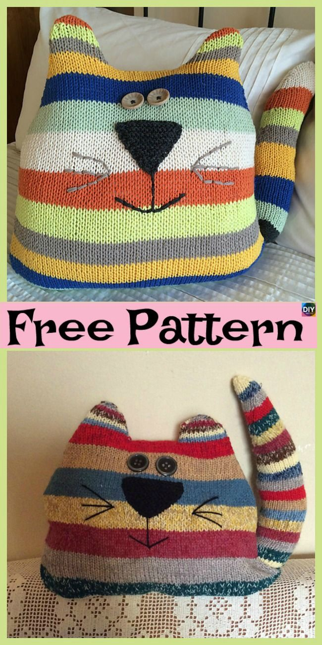 free cat cushion cover to knit # 11