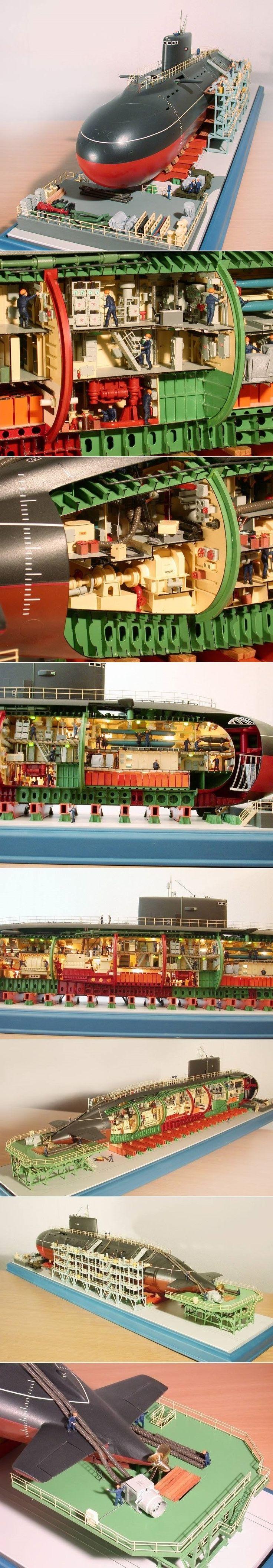 "Submarine Cutaway - Магазин ""МасШТАБ"""