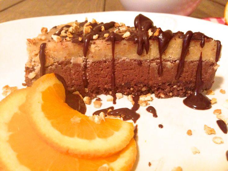 Raw Vegan Orange Chocolate Hazelnut Cake