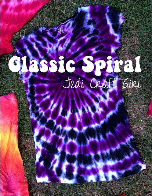 Tie-Dye Tutorials from Jedi Craft Girl
