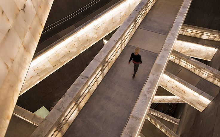 illuminated ramps receive acclaim at canadian museum for human rights