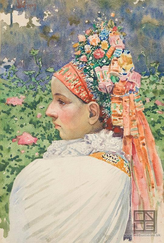 Joža Úprka: Bride / Nevesta (1909) Hroznová Lhota