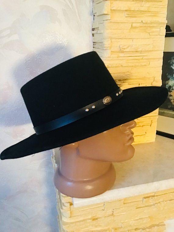 c78b6db59d689 Black vintage woolen felt hat with stetson hat in 2019