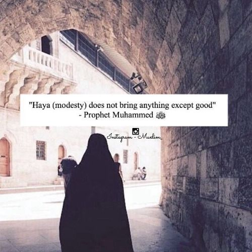 Modesty only brings goodness.