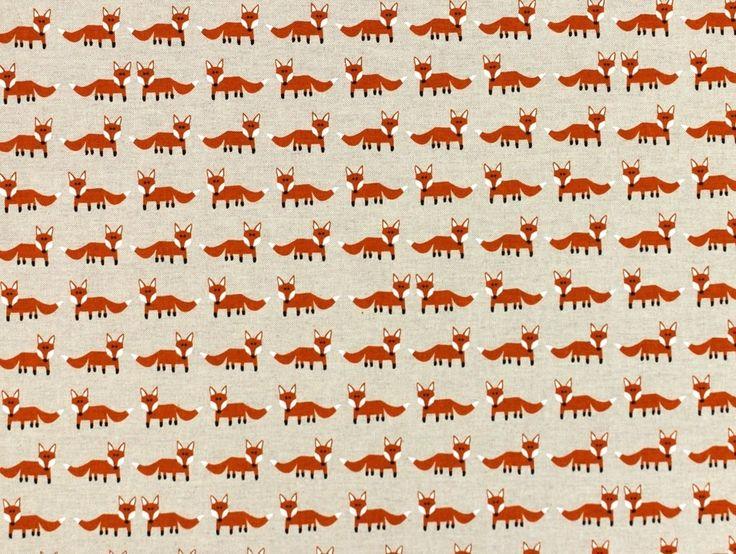Monster: Decoratie stof kleine vossen, 7260-01-M,  bij stoffen-hemmers.nl