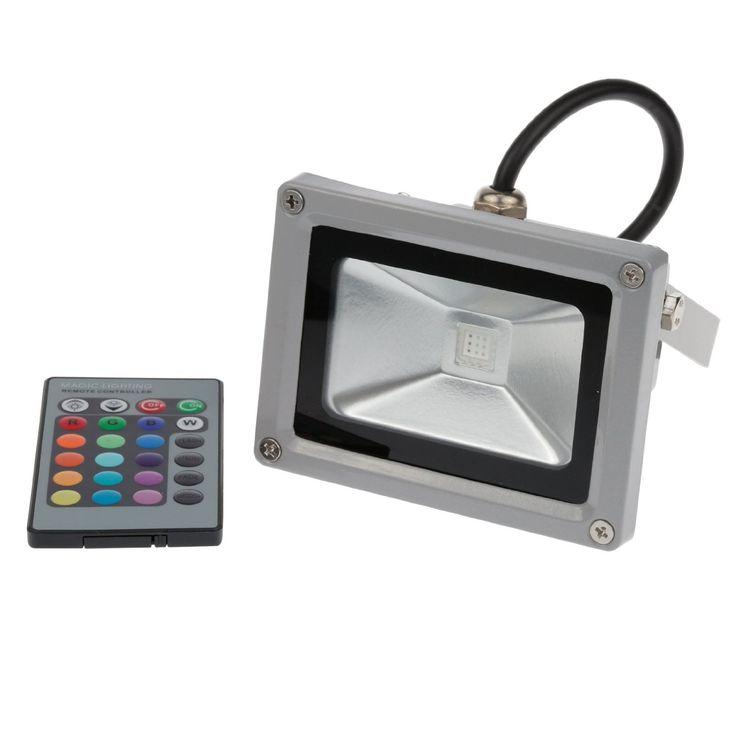 Party Lighting    Amazon.com: Lemonbest® 10W RGB Multi-color LED Flood Light IP65 Waterpoof Wall Wash Light + Remote Control: Home Improvement
