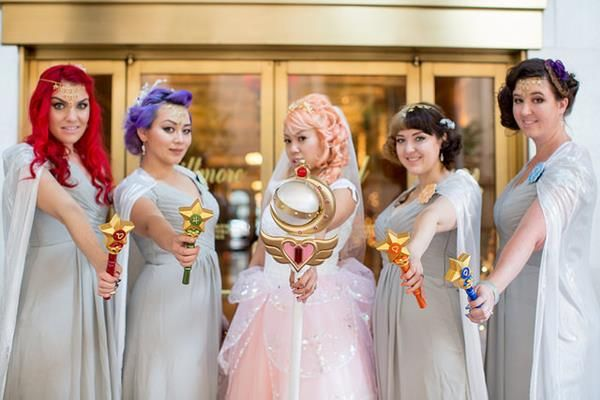 A Whimsical Sailor Moon-Themed Wedding