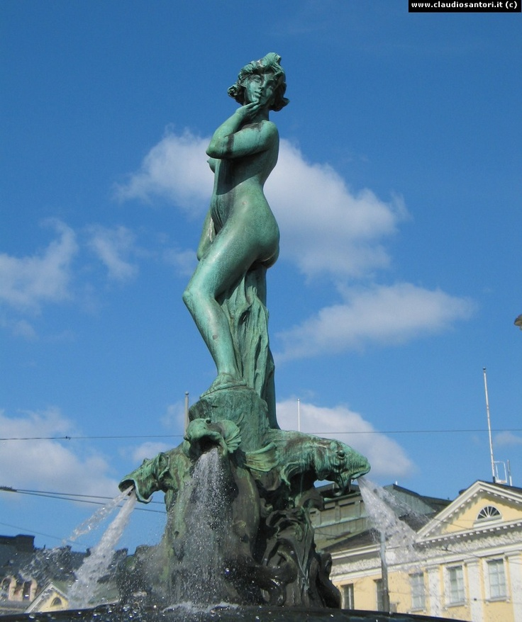 Havis Amanda statue in the Helsinki harbour. Go to the Market Square if want to see this statue.