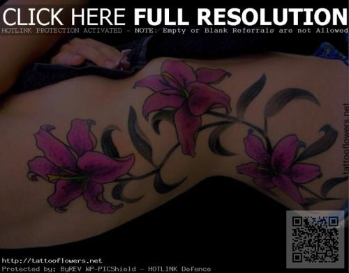 Purple Lily Tattoo Meaning...