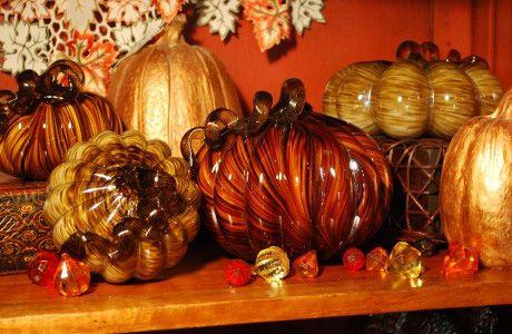 Glorious Glass Pumpkins.