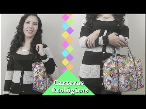 Carteras ecológicas parte 4: Coser las correas y el zipper - YouTube