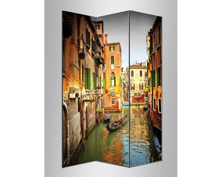 Γονδολιέρης στην Βενετία ,πτυσσόμενο διαχωριστικό ( Παραβάν)