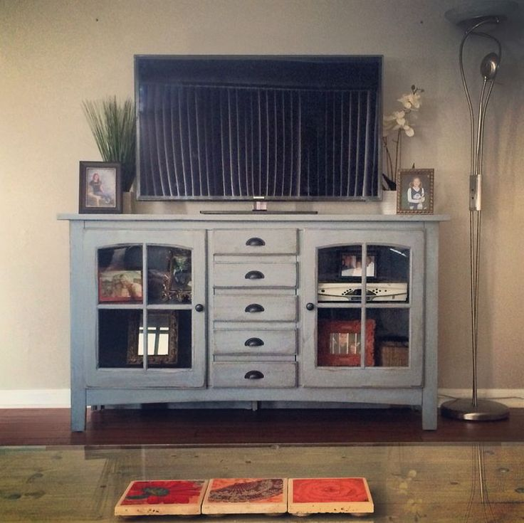 Blue tv console from homegoods in 2020 home goods