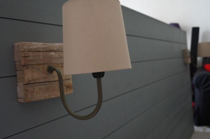 Fabriquer Une Tete De Lit En Bois Brut : T?te de lit fait maison en lambris gris galet collection inspire