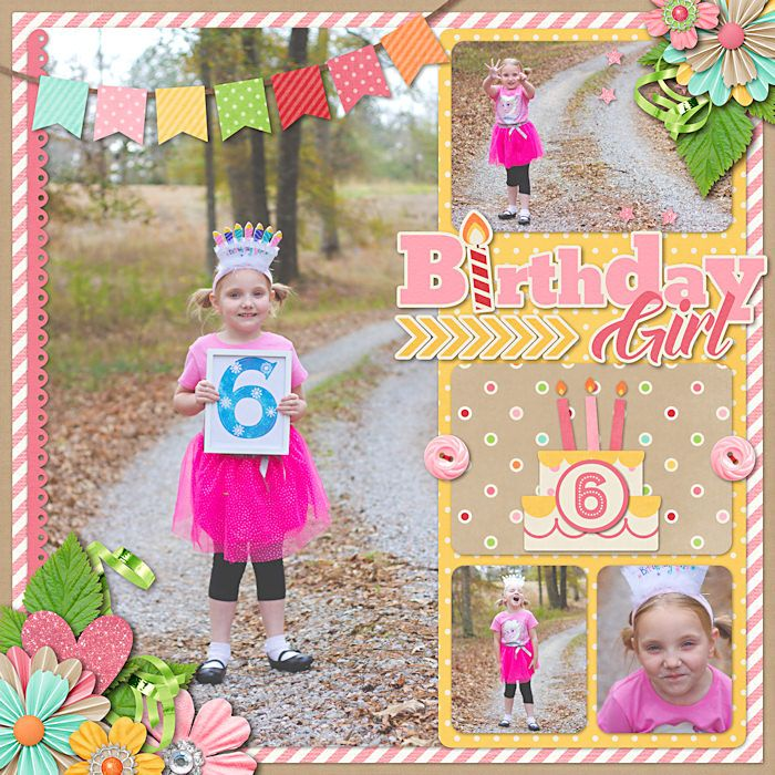 Digital Scrapbook Page Inspiration, Sweet Shoppe Designs - Making Your Memories Sweeter
