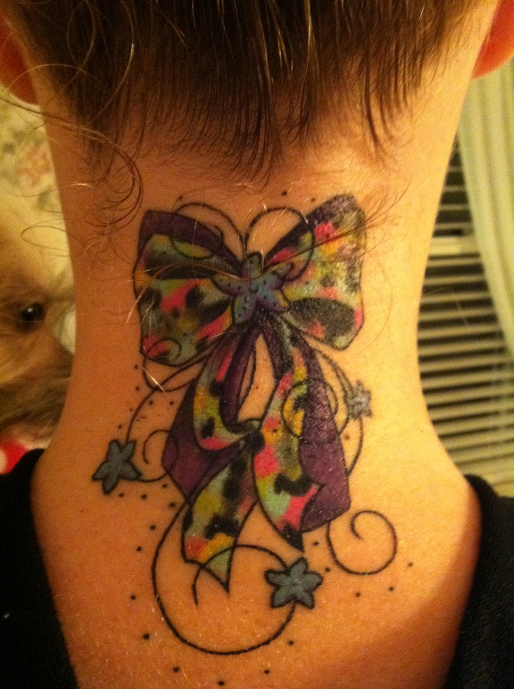 54 best images about bow tattoos on pinterest bow for Looking glass plastic surgery tattoo removal