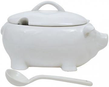 Ceramic Pig Soup Tureen - Soup Tureen - Ceramic Soup Tureen | HomeDecorators.com