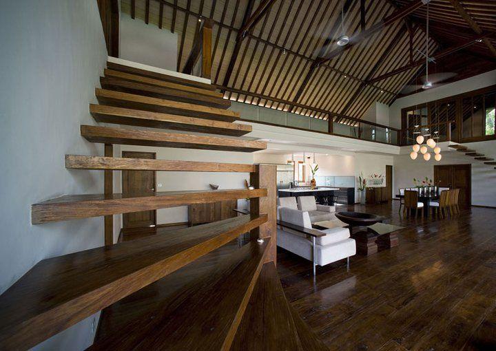 Bali Villa Rail-less stairs