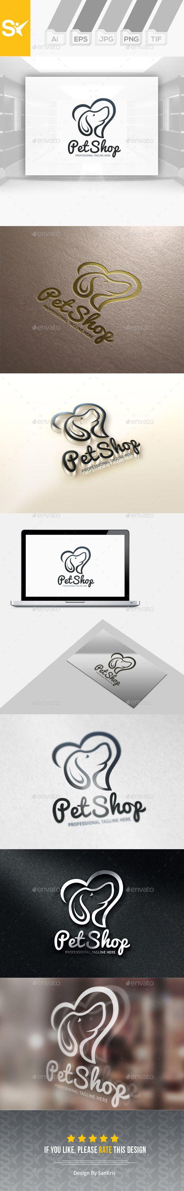 Pet Shop Logo  EPS Template • Download ↓ https://graphicriver.net/item/pet-shop-logo/12935972?ref=pxcr