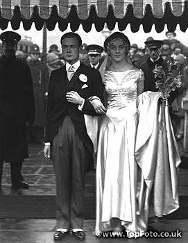 Wedding of Brian Guinness and the Hon. Diana Mitford at St Margaret's, Westminster, London. 30 January 1929