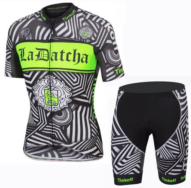 Short kit summer cycling t shirt and mix sizes cycling uniforms in 2016  saxo bank tinkoff team fluorescence green cycling jersey ... 331391c10