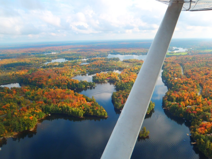 Aerial view of Fall Colours