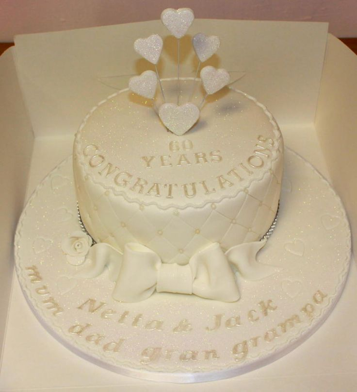Cake Decorations Diamond Anniversary : Diamond Wedding Anniversary Cake mio Pinterest ...