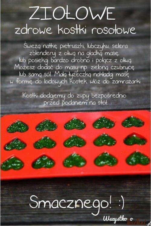 Ziołowe, zdrowe kostki rosołowe - Zobacz jak je zrobić!!!