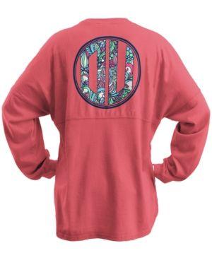 Royce Apparel Inc Women's Oklahoma Sooners Floral Monogram Sweeper T-Shirt - Red XL