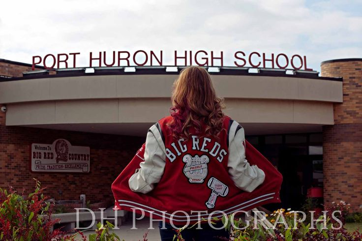Port Huron Senior Portraits, senior picture ideas, senior inspiration, senior photos by DH Photographs | www.dhphotographs.com Keywords: letterman jacket, school, 2015, class of