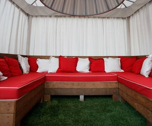 Custom Cabanas And Cushions Made With Sunbrella Awning Fabric Furniture For The Blake