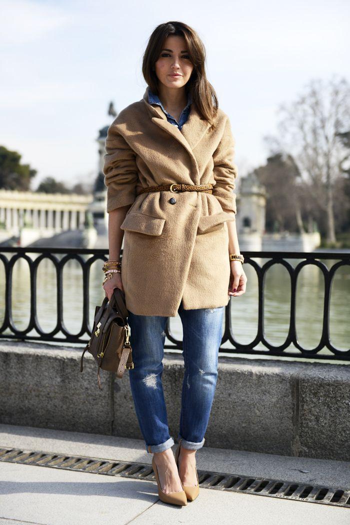 belted camel coat
