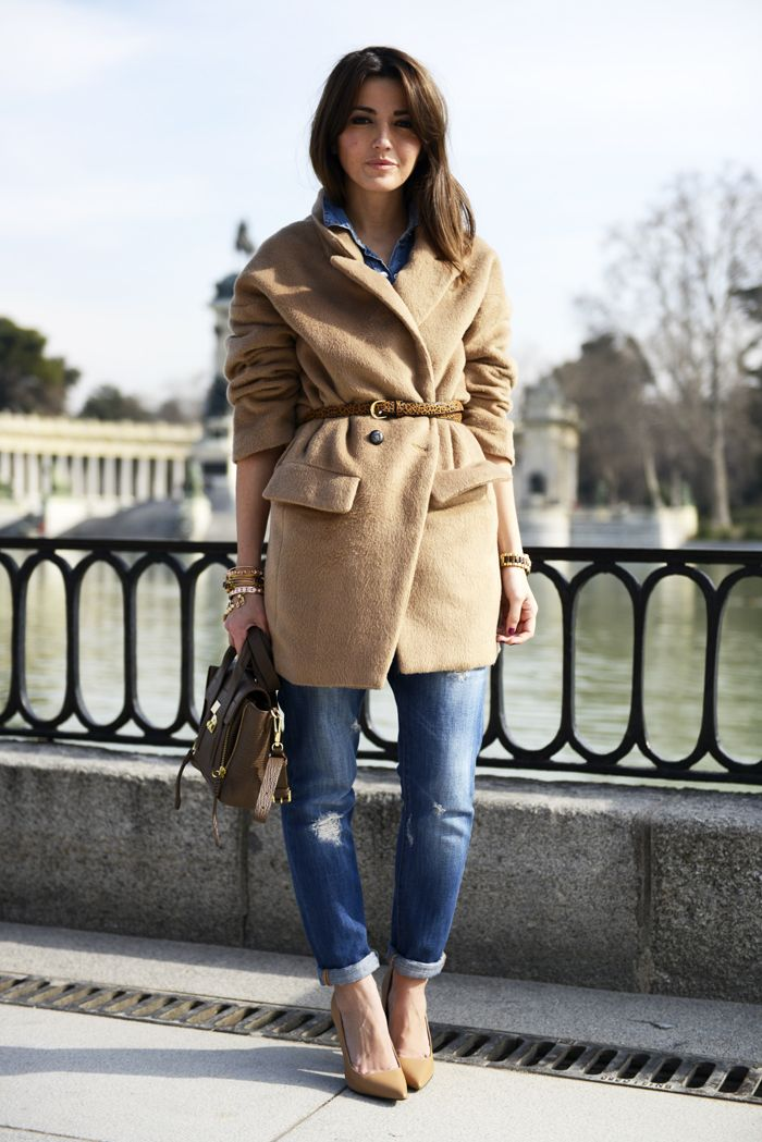 Alexandra Pereira Lovely Pepa Romwe coat Zara boyfriend jeans 3.1 Phillip Lim bag Mango shoes Pull & Bear belt #streetstyle