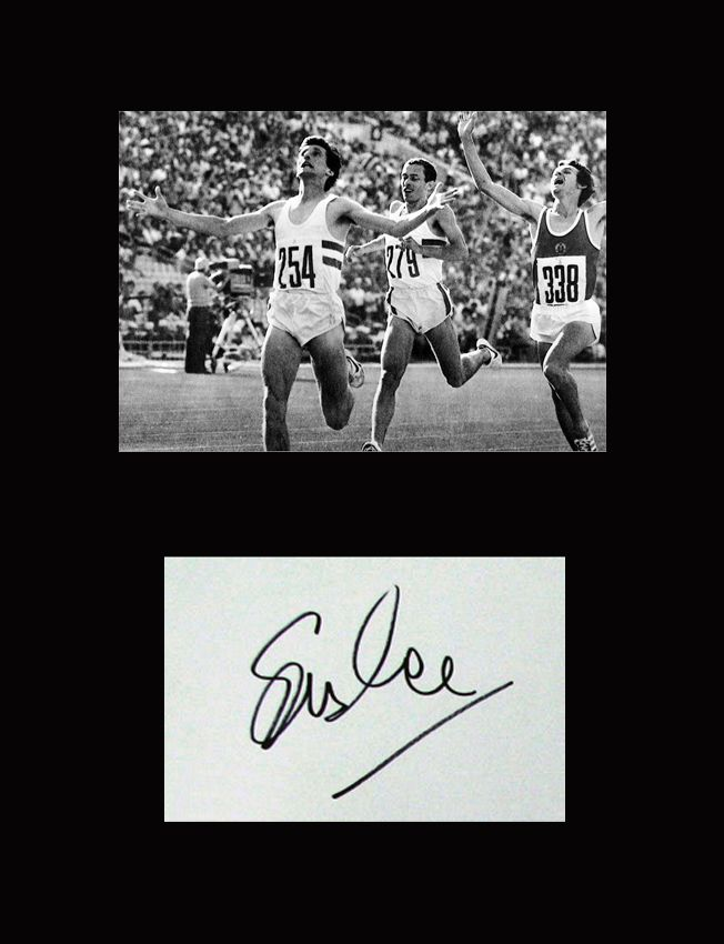 Seb Coe autographed 1980 Moscow Olympics 1500m final montage.
