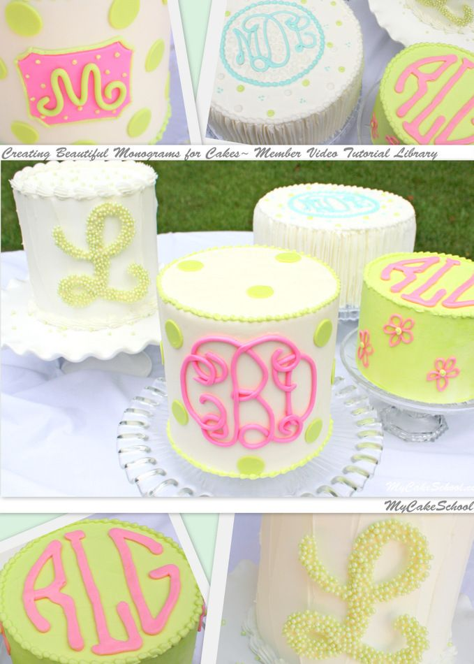 Creating Monograms for Cakes~ Member Video Library~ MyCakeSchool.com