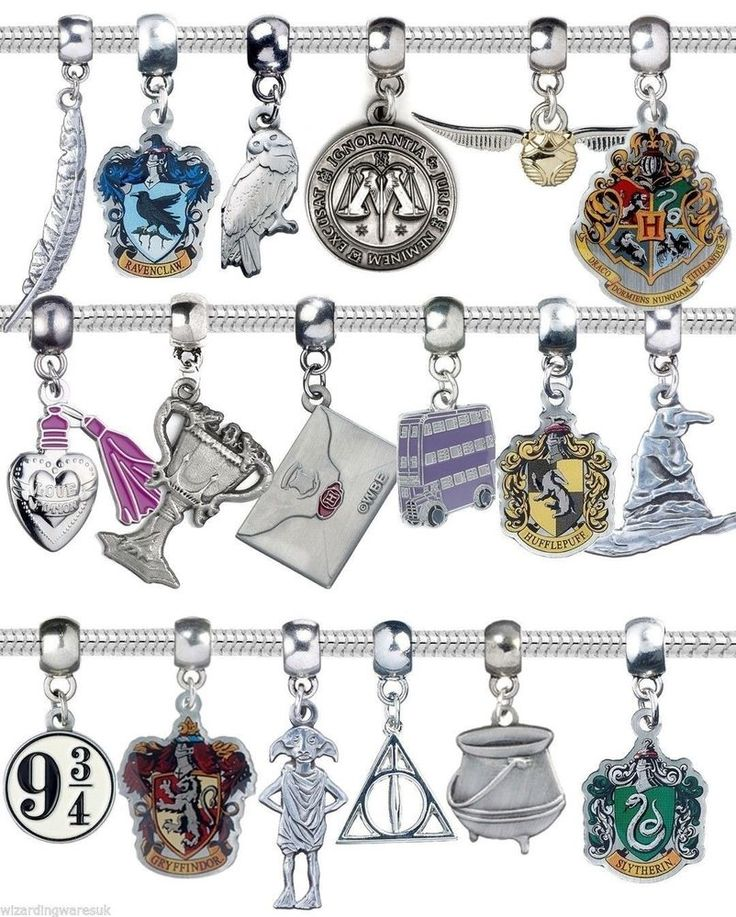 HARRY POTTER BRACELET CHARMS (PANDORA COMPATIBLE). These Harry Potter™ charms are the PERFECT gift idea for those that are fans of the famous series. The 18 charms available are as follows HufflePuff Hogwarts Housebase Crest. | eBay!