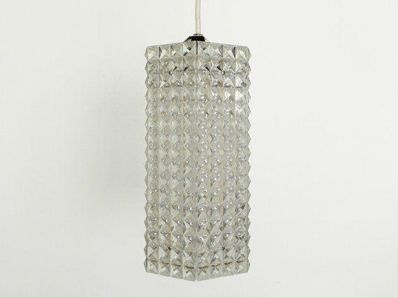 Vintage Hanging Pendant Lamp  Hexagonal Plastic Lamp от PopBam, $68.00