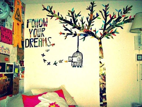 Follow your dreams bird cage tree magazine wall art room ideas pinterest trees magazine - Magazine wall decor ...