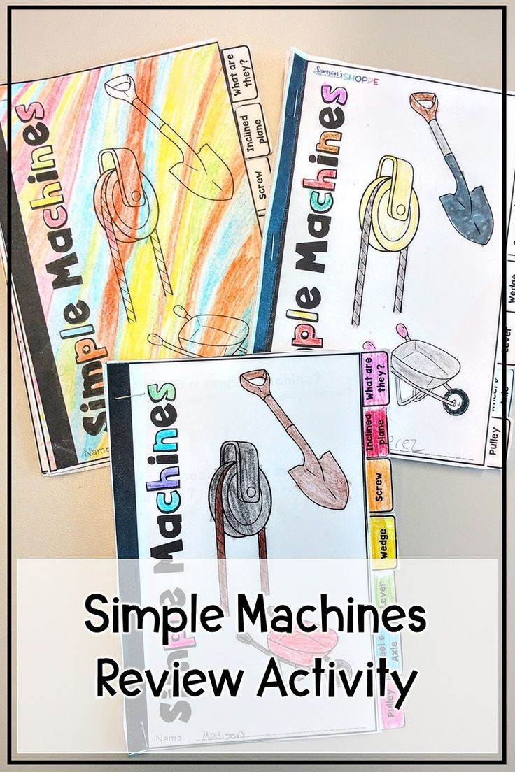 Simple Machines Activity For Kids Review Inclined Plane Screw Wedge Pulley Wheel And Axle Simple Machines Simple Machines Activities Worksheets For Kids