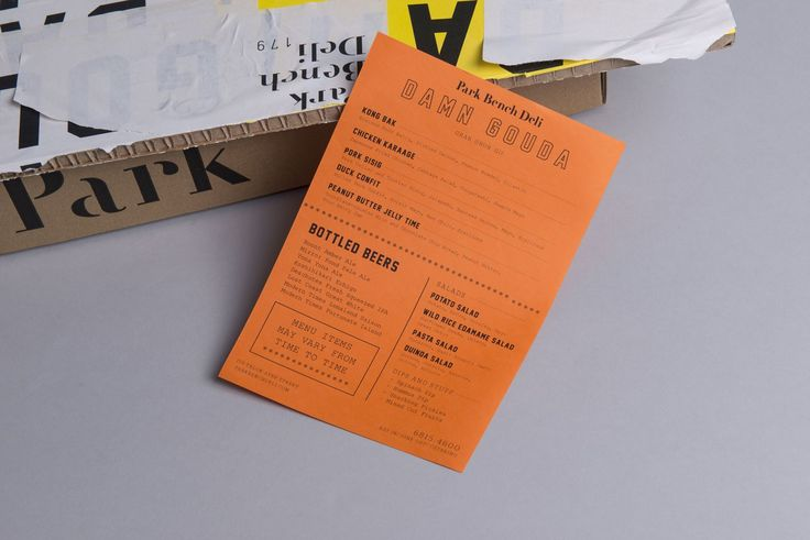 Brand identity and print by Foreign Policy for Singapore's Park Bench Deli