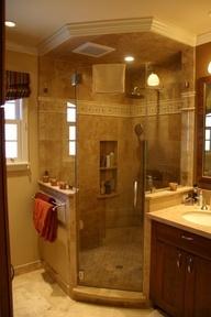 Best Corner Showers Bathroom Ideas On Pinterest Corner